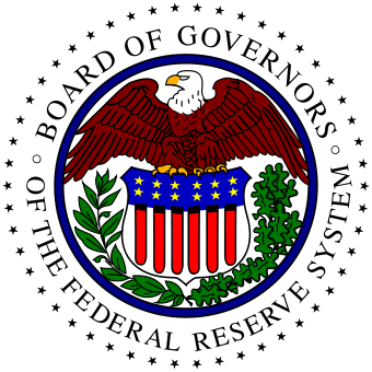 The logo of the US Federal Reserve