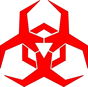 A biohazard symbol