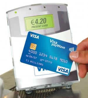 A contactless card at POS
