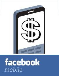 A facebook mobile money transfer icon