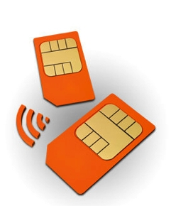 A picture of NFC enabled SIM's
