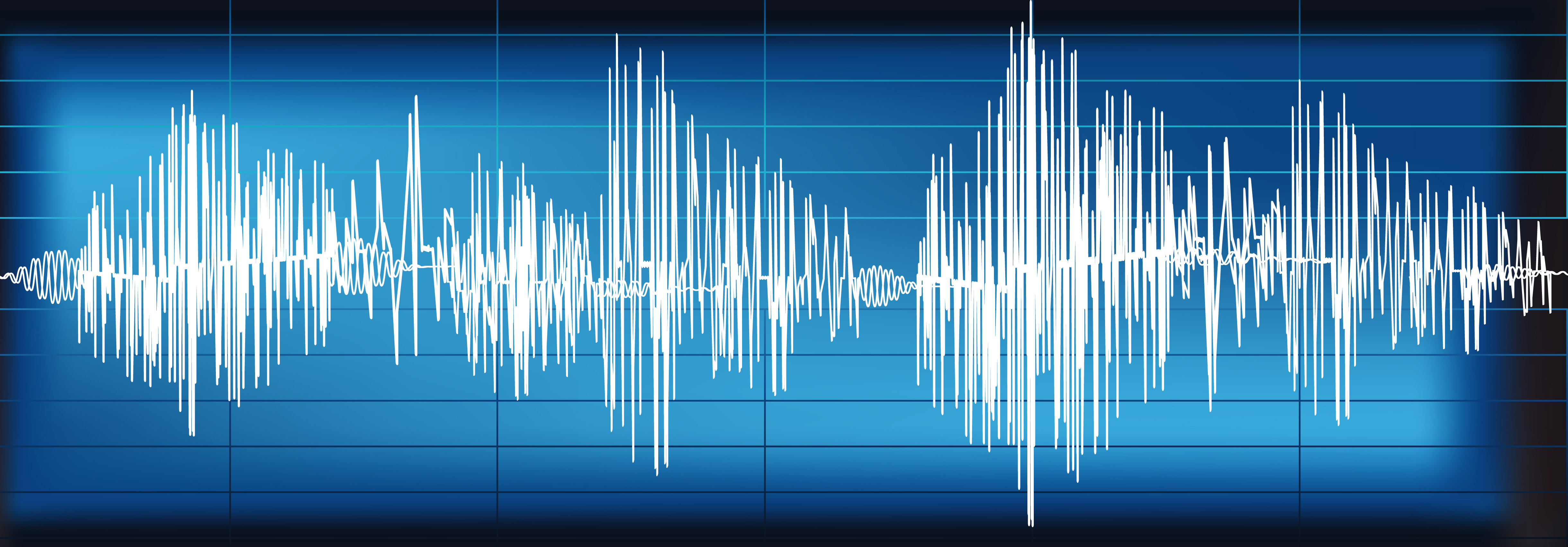 A wave length from a persons voice