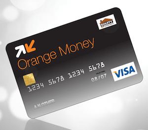 An Orange Money card with Visa Logo