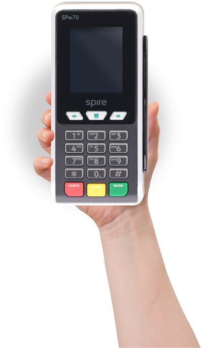 A Spire Point of Sale (POS) terminal