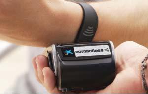 Image of CaixaBank Visa contactless wristband