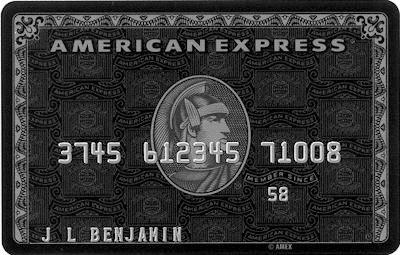 An American Express black card