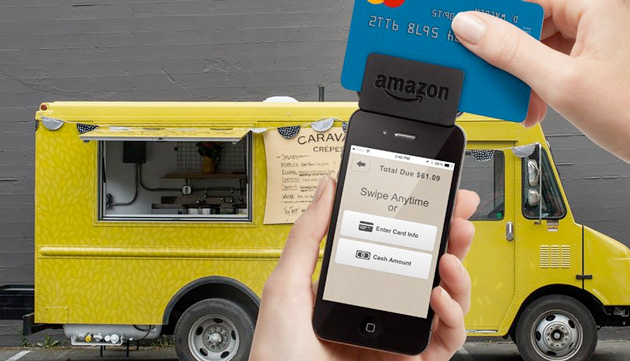 The Amazon app (Amazon Local Register) in action