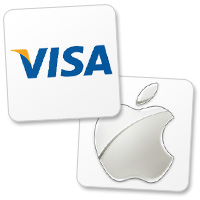 Apple and Visa logos