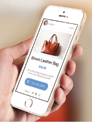 image of mobile commerce on smartphone