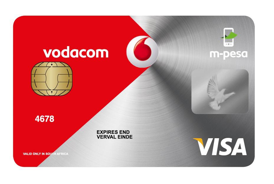 Vodacom m-pesa EMV banking card
