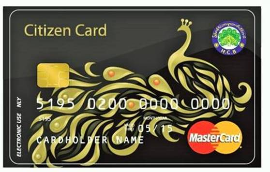 The Citizen Card has been launched in Myanmar