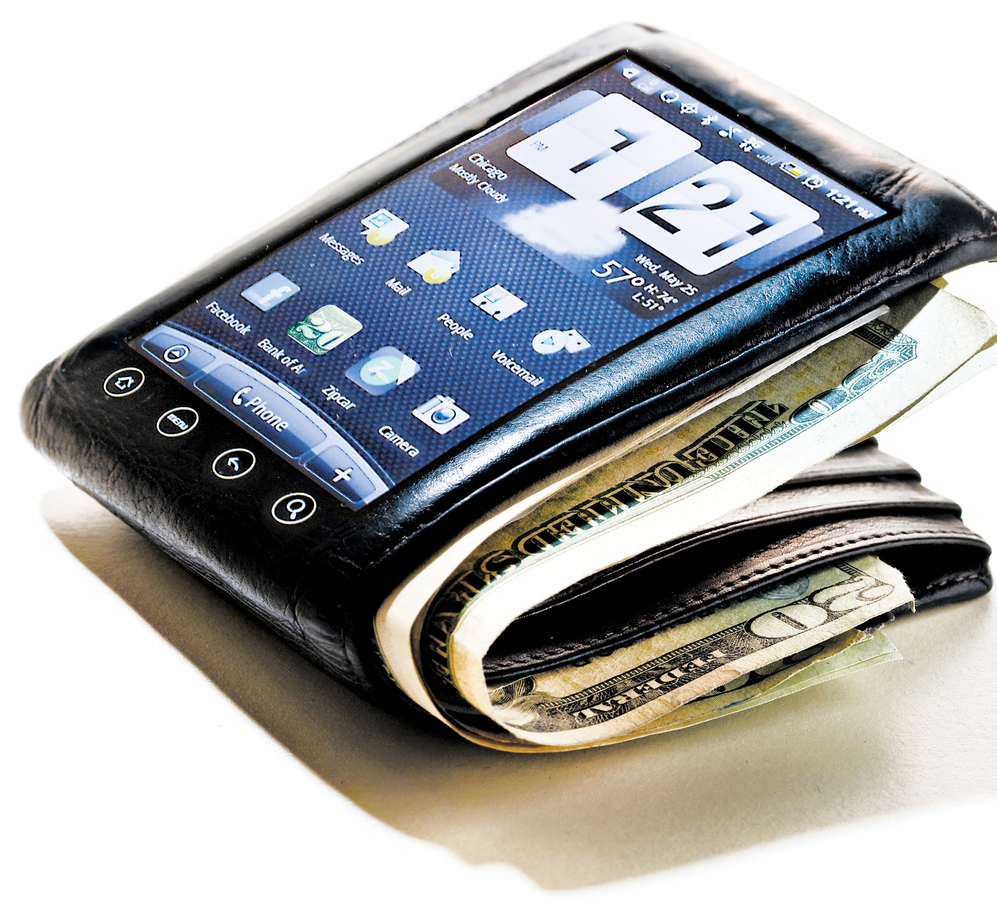 A mobile phone wallet