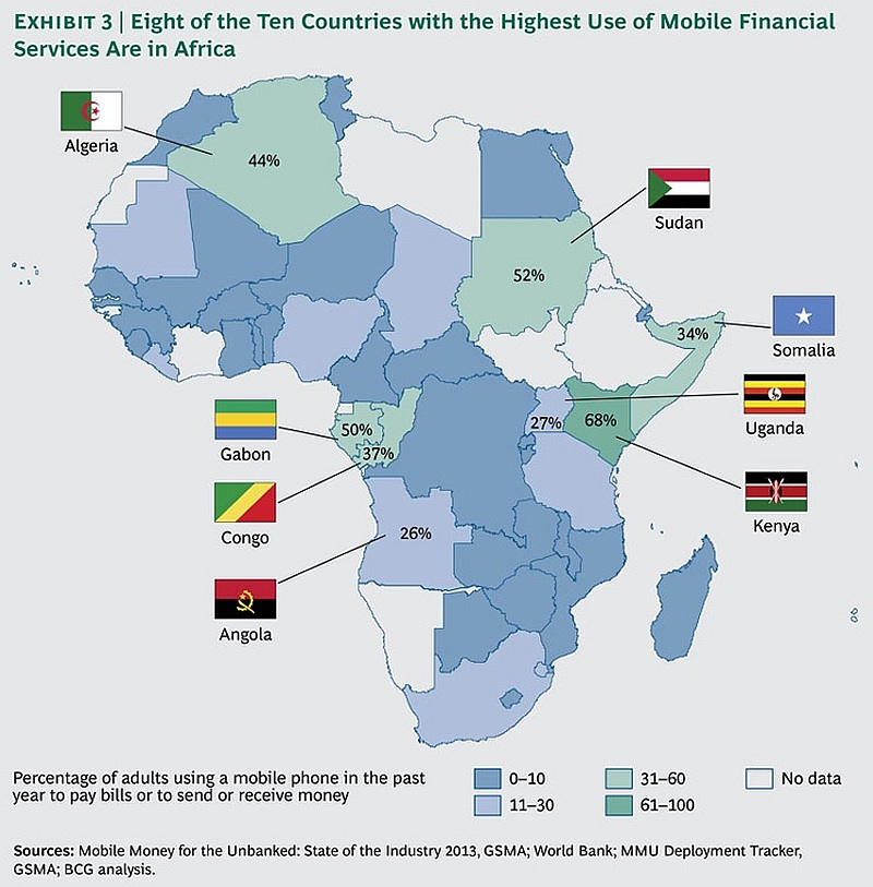African mobile money service