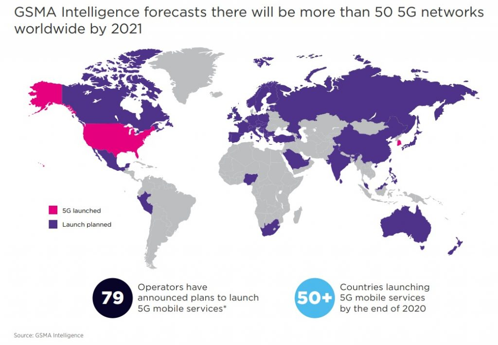 5G Network roll-out worldwide