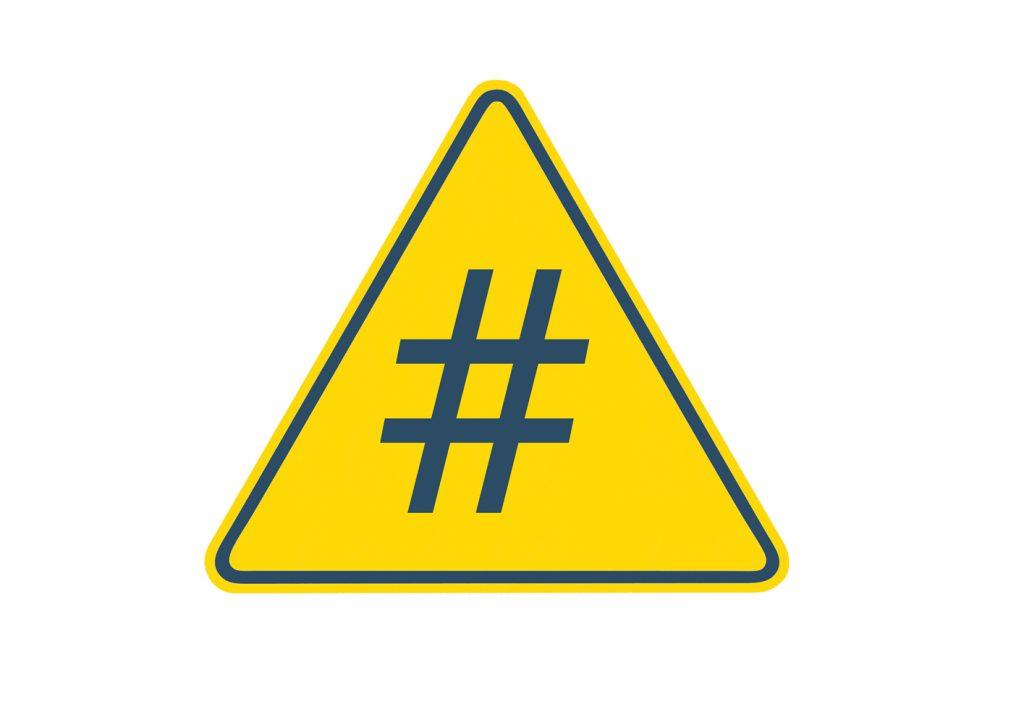 Danger hashtag