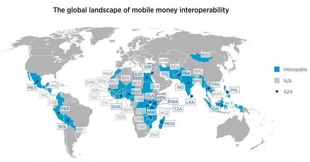 The global landscape of mobile money interoperability